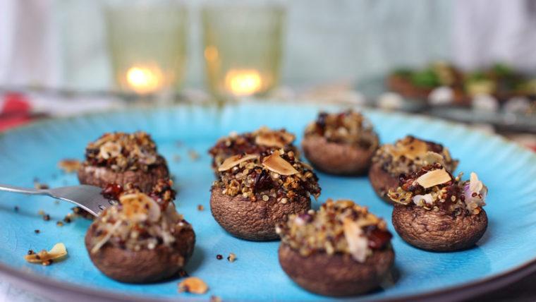 Gevulde kastanje champignons – Lisa goes Vegan