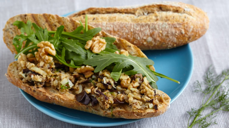 Recept broodje auberginesalade met dille