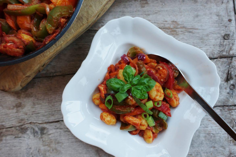 Recept gnocchi met paprika en shiitake