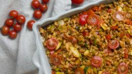 Beeld Vegan macaroni ovenschotel