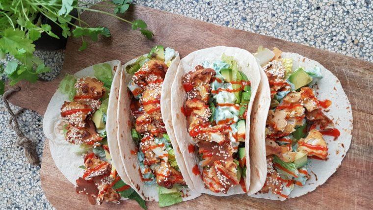 Beeld: Tortilla's met pittige geroosterde bloemkool