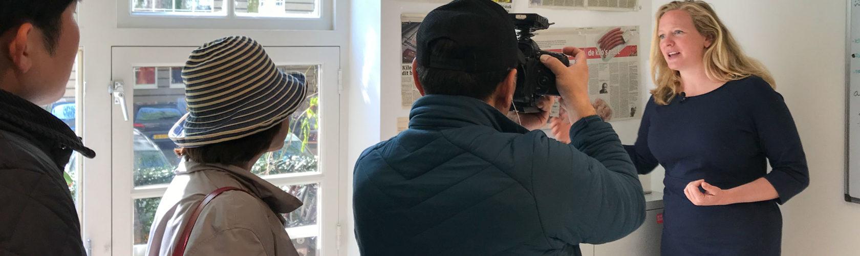 beeld interview Zuid-Koreaanse tv