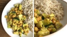 Beeld: Courgette curry met kikkererwten - Wakker Dier
