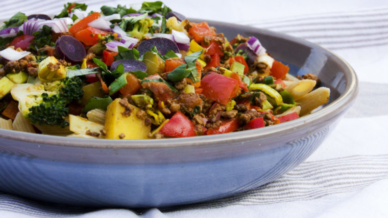 Beeld: Kleurrijke pasta - Wakker Dier