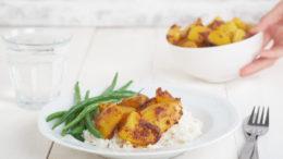 Aardappelcurry met sperziebonen - Wakker Dier