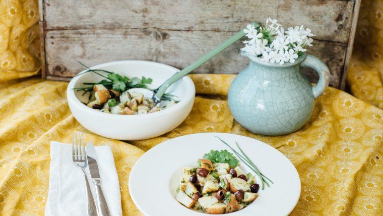 Frisse aardappelsalade met olijven en dragon - Wakker Dier