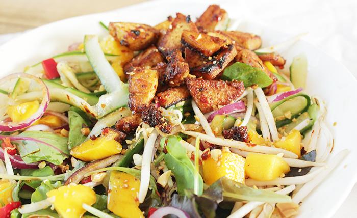 Tofu-mango salade met pinda – Wakker Dier