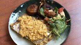 Boterham met scrambled 'eggs' en gebakken oesterzwam – Wakker Dier