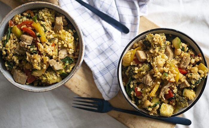 Vega nasi met bulghur – Wakker Dier